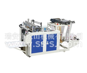 SINGLE LINE HOT CUTTING T-SHIRT BAG MAKING MACHINE