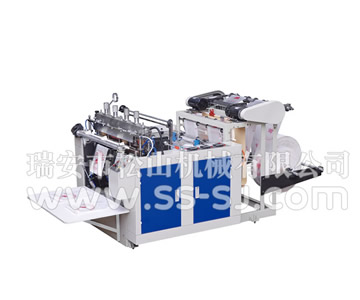 DOUBLE LINE HOT CUTTING T-SHIRT BAG MAKING MACHINE