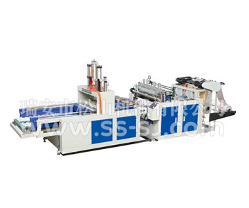 HIGH SPEED DOUBLE LINE HOT CUTTING T-SHIRT BAG MAKING MACHINE