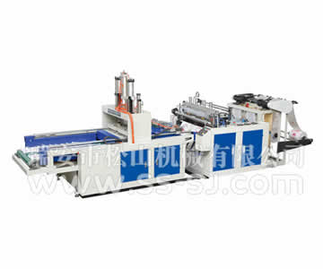 HIGH SPEED DOUBLE LINE COLD CUTTING T-SHIRT BAG MAKING MACHINE