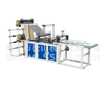 FOUR LINE COLD CUTTING BAG MAKING MACHINE WITH CONVEYOR